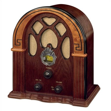 Crosley Electronics Old-fashioned Companion Walnut/Burl Radio