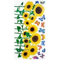 Sunflowers & Butterflies 2 - Wall Decals Stickers Appliques Home Decor