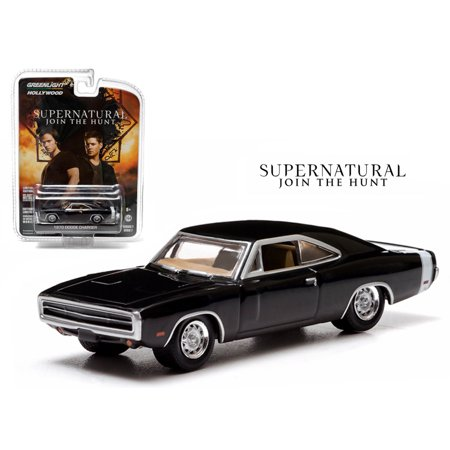 Supernatural (TV Series 2005-Current) 1970 Dodge Charger (Episode 7.17) 1/64 Diecast Car Model by Greenlight
