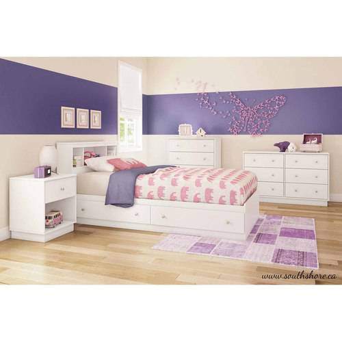 South shore litchi bedroom furniture collection for South shore bedroom set walmart