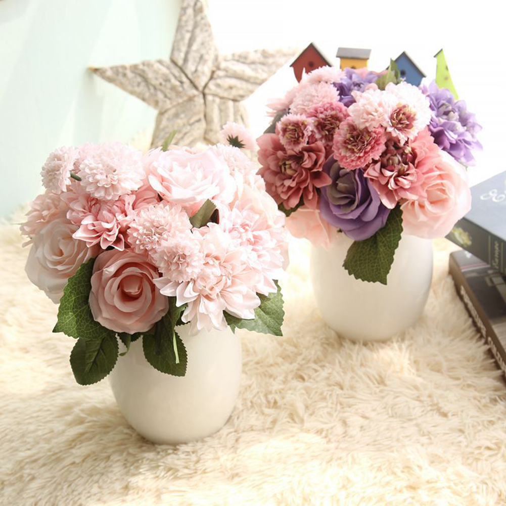 Directer Artificial Rose Dahlia Daisy Fake Flowers Home Wedding Bridal Party Decoration
