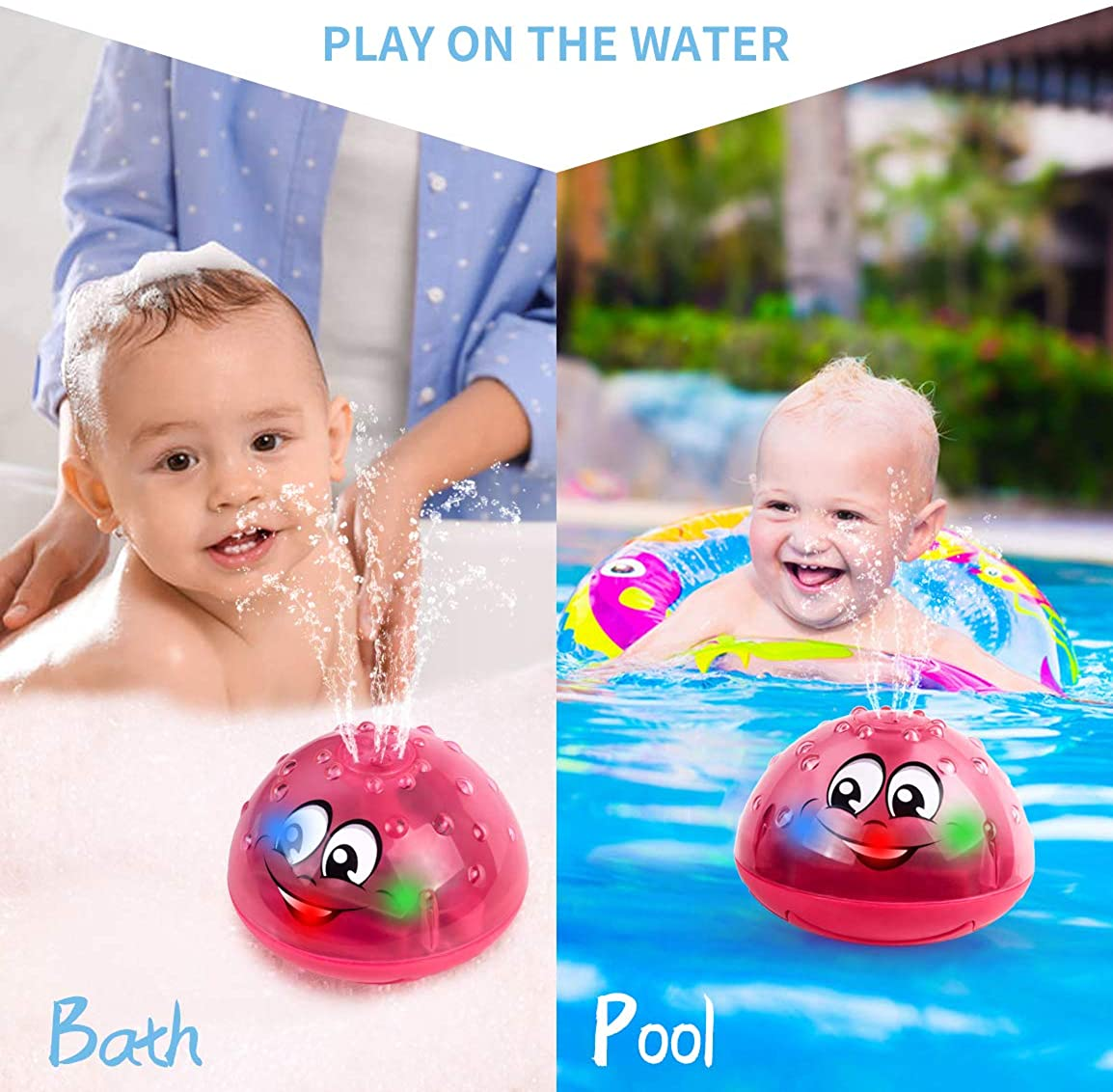 TXCAOT Baby Bath Toys,Pufferfish Spray Water Squirt Toy Float Toys Bathtub Shower Pool Bathroom Toy Bath Toys for Kids Toddlers Infant Boys and Girls Sprinkler Shower Pool Bathtub Toys for Baby