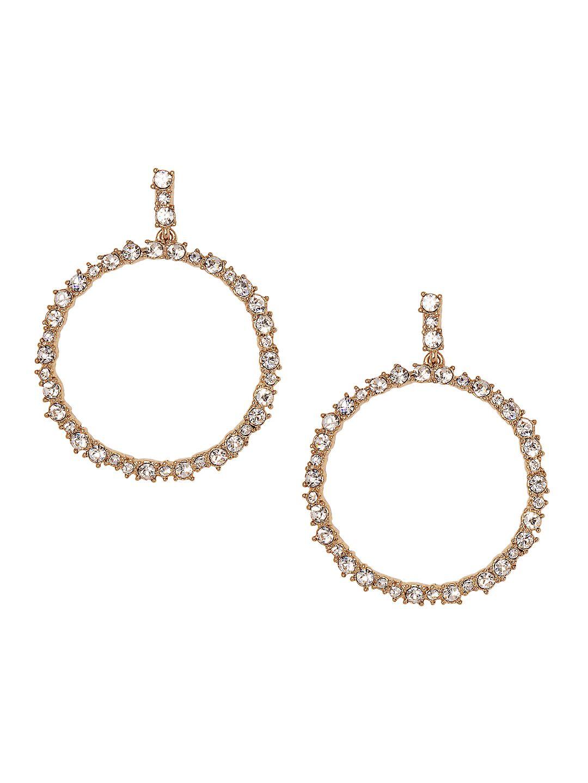 Holiday Drama Crystal Gypsy Hoop Earrings