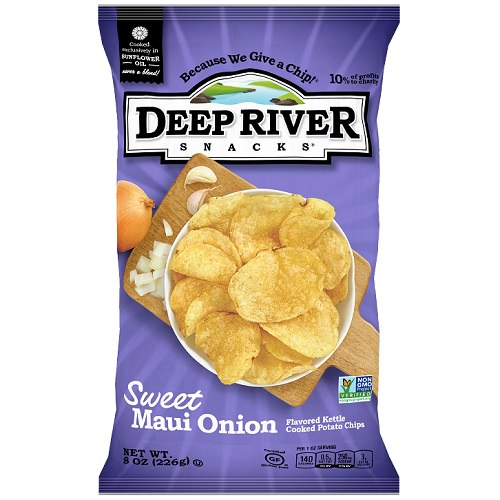 Sweet Maui Onion Kettle Chips, 8oz, 12 Ct