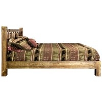 Homestead Collection Full Platform Bed, Stain & Clear Lacquer Finish