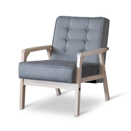 Baxton Studio Mid-Century Timor Club Chair - Gray