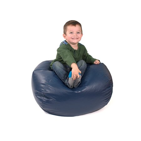 Pleasant Gold Medal Bean Bags 30008446824 Small Leather Look Bean Bag For Children Navy Inzonedesignstudio Interior Chair Design Inzonedesignstudiocom