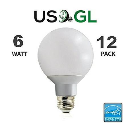 12 Pack Led G25 Vanity Globe Light Bulb Dimmable 6w 40 Watt Equivalent