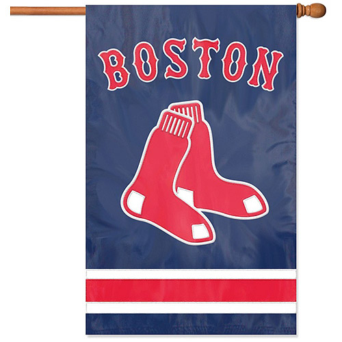 Party Animal Red Sox Applique Banner Flag