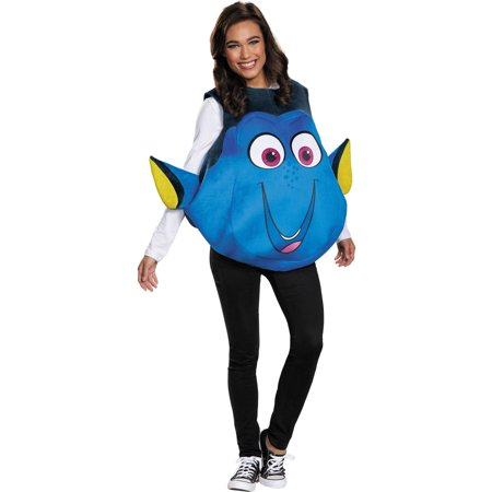 Dory Fish Women's Adult Halloween Costume, One Size, - Fish Costume Patterns