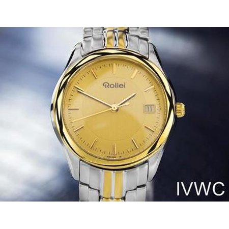 Beautiful Rollei Swiss Made Gold Plated Stainless Steel Men