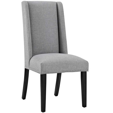 Hawthorne Collections Fabric Upholstered Dining Side Chair in Light Gray