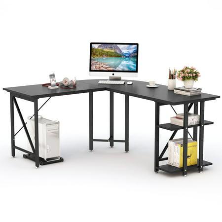 LITTLE TREE Large L-Shaped Desk, 67 inch Modern Corner ...