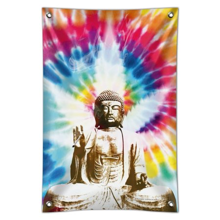 Tie Dyed Buddha Serenity Home Business Office Sign