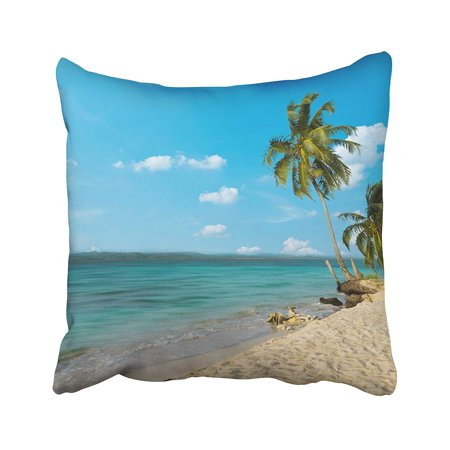 - BPBOP Palm Trees On Beautiful Beach With Crystal Clear Turquoise Water And Blue Sky Pillowcase Pillow Cushion Cover 18x18 inches