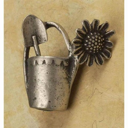 Watering can sm rt knob Set of 10 Bronze Rubbed