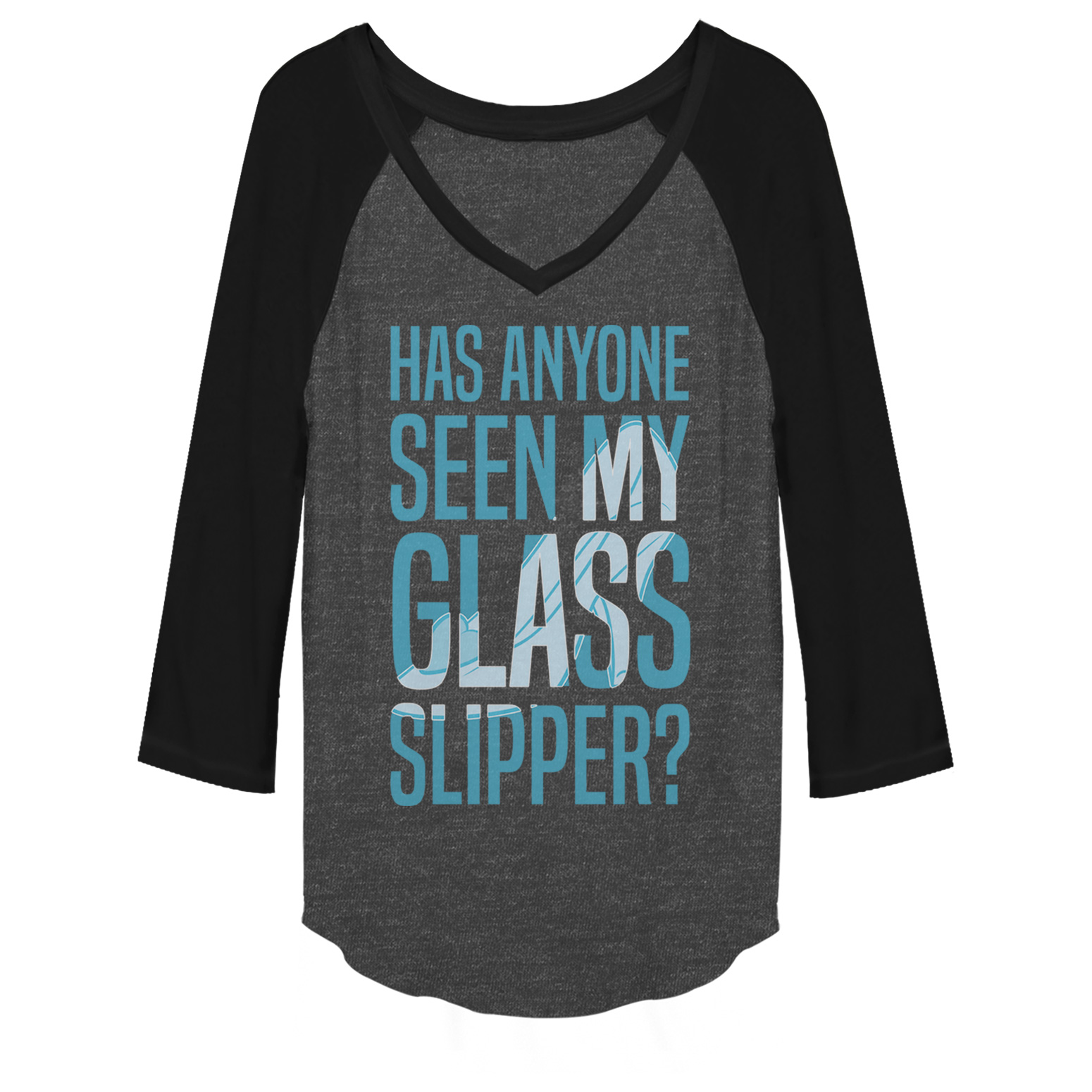 cinderella juniors' glass slipper baseball tee