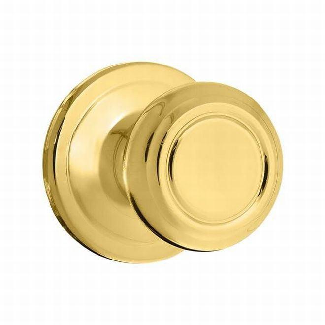 Kwikset 788CN-3BB Cameron Half Dummy Lock Bright Brass Finish in Brown Box