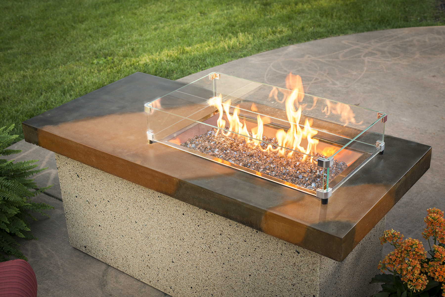 Outdoor GreatRoom ART-1224-BRN-K Artisan Firepit Table with Stainless Steel Burner by Outdoor GreatRoom