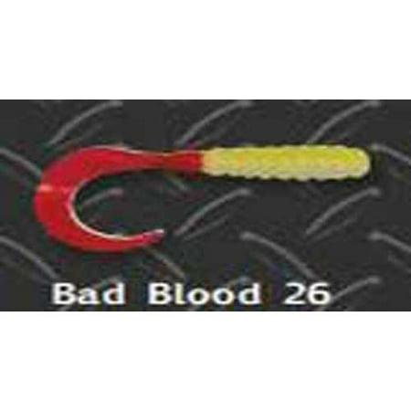 Big Bite Curl Tail Grub 2' 10ct Bad Blood