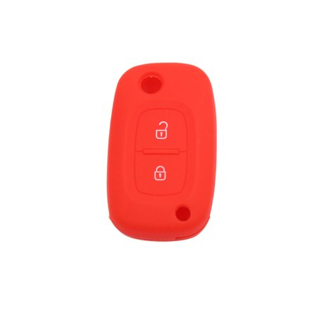 Red Silicone Tow Button Car Remote Key Cover Case Protective for Renault Kadjar - image 1 of 5