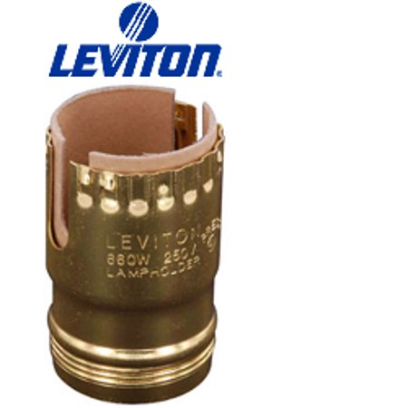 Leviton Electrolier Socket - Leviton 7111-2 Medium Base Push Thru Electrolier 660W-250V w/ Uno Threads ( Package of 1000)