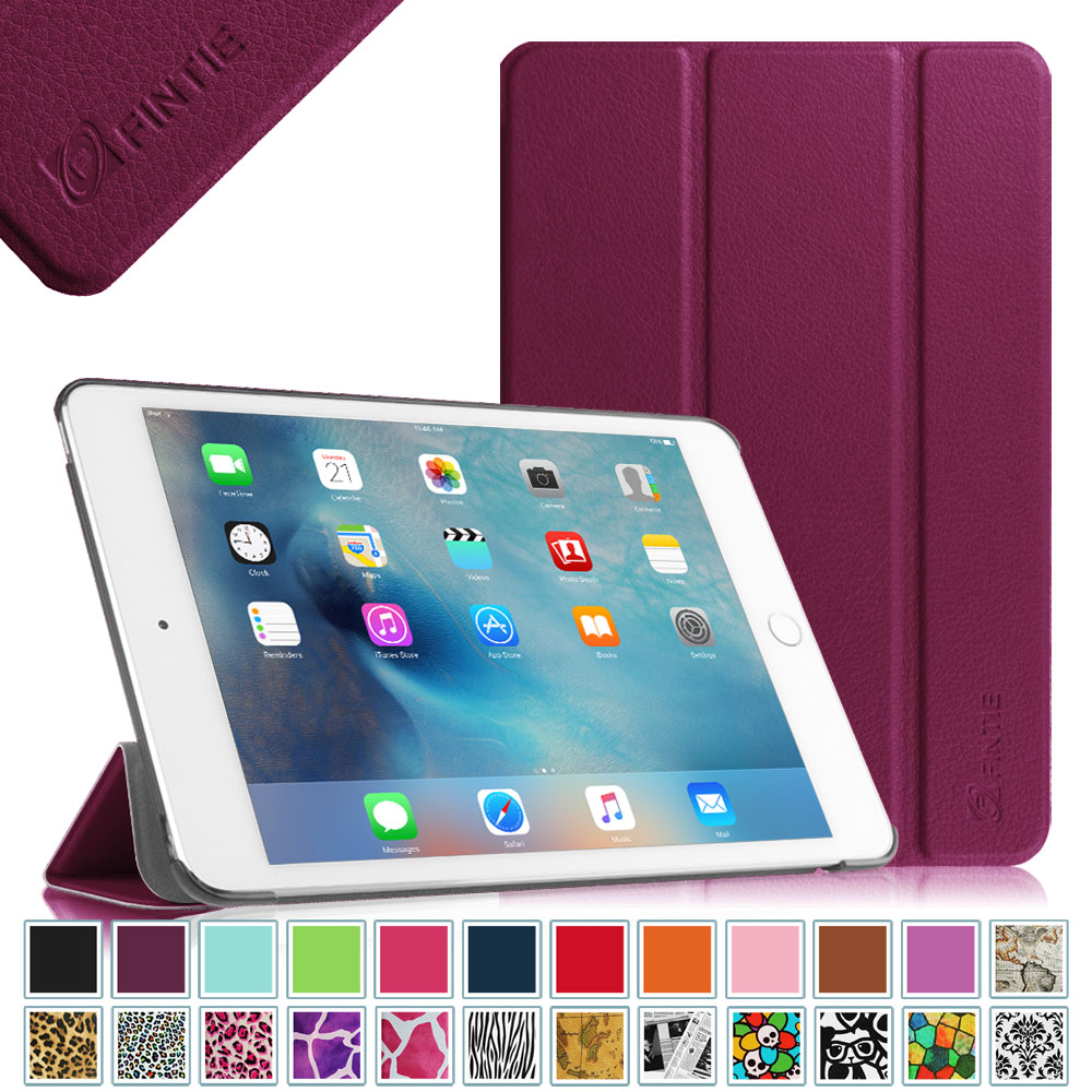 Fintie Apple iPad mini 4 2015 Release Case - Ultra Slim Lightweight Stand Smart Cover Auto Sleep/Wake, Purple