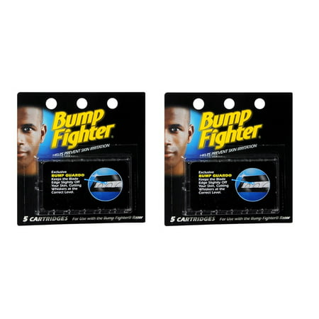Schick Twin (Bump Fighter Refill Cartridge Blades for Men - 5 ea. (Pack of 2) + Schick Slim Twin ST for Sensitive Skin )