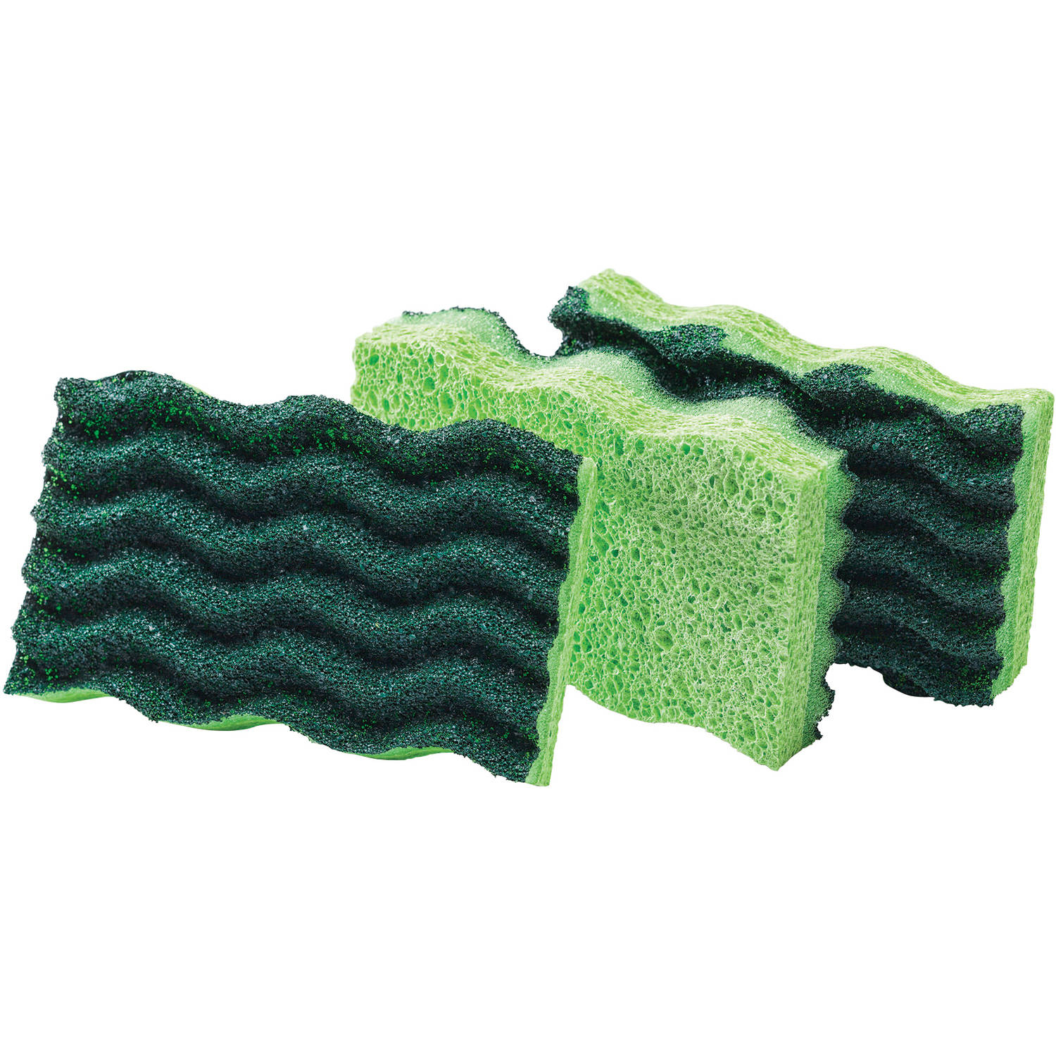 Libman Heavy-Duty Sponges, Green, 3 count