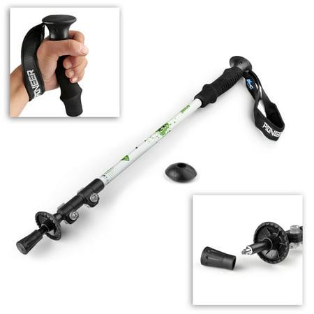 Trekking Light - Trekking Pole Walking Stick (White) - Collapsible Retractable 24