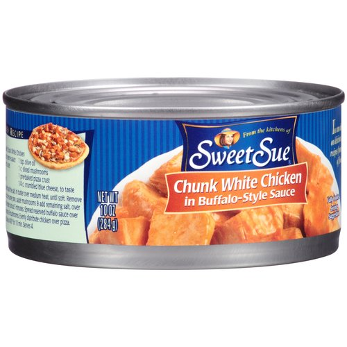 Sweet Sue Chunk White Chicken in Buffalo-Style Sauce, 10 oz