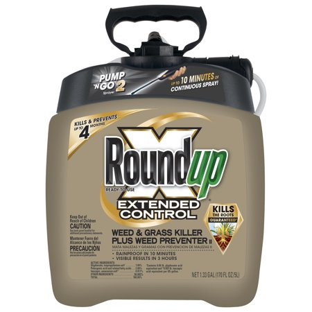 Image of Roundup Ready-To-Use Extended Control Weed & Grass Killer Plus Weed Preventer II with Pump 'N Go 2, 1.33 gal.