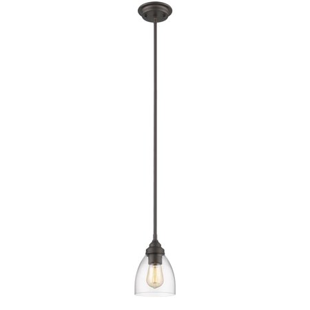 "CHLOE Lighting ELISSA Transitional 1 Light Rubbed Bronze Ceiling Mini Pendant 6"" Wide"