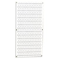 Wall Control Metal Pegboard Panel - Vertical 32-Inch Tall x 16-Inch Wide - White Metal Peg Board
