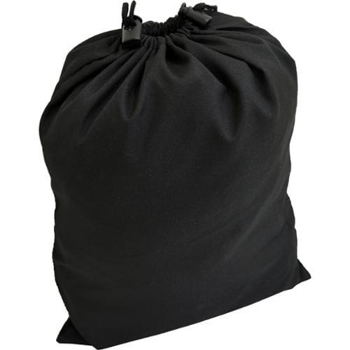 "Black Polyester 18"" Drawstring Back Bag w/ Dual Push Button Cord Clasps"