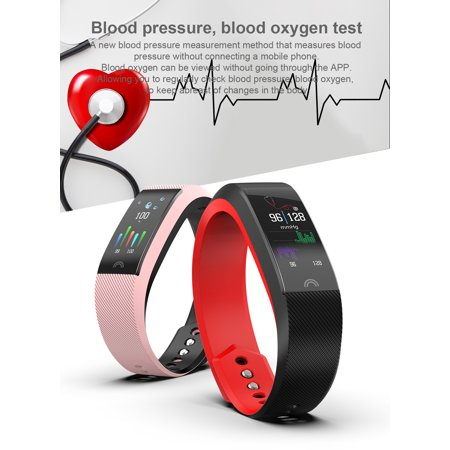 HYFAI F6 Fitness Tracker Smart Bracelet Fitness Wristband Smart Watch for iOS and Android (FREE GIFT FAST CHARGER) in Pink - image 8 de 12