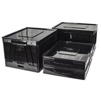 Storex  Collapsible Crate with Lid