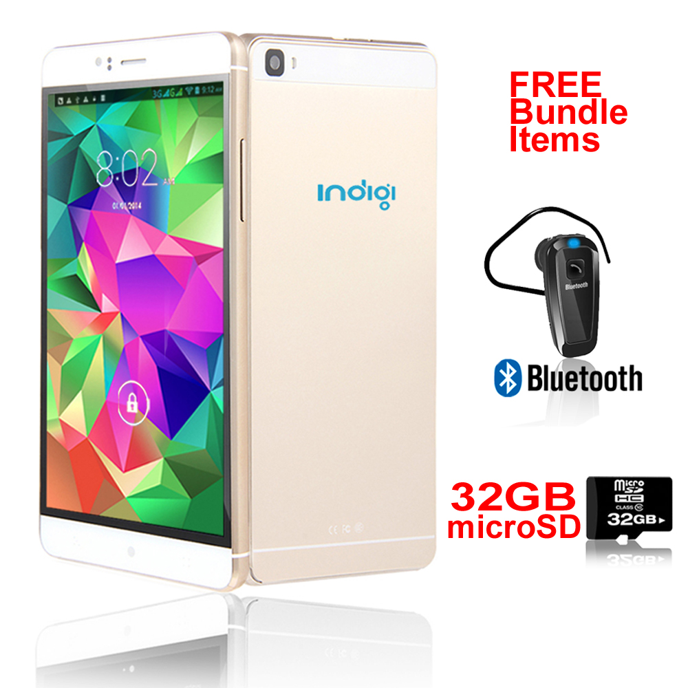 "Indigi® 3G Unlocked Smartphone Android 5.1 Lollipop SmartPhone 6.0"" QHD + WiFi + Google Play Store + Bundle Included"