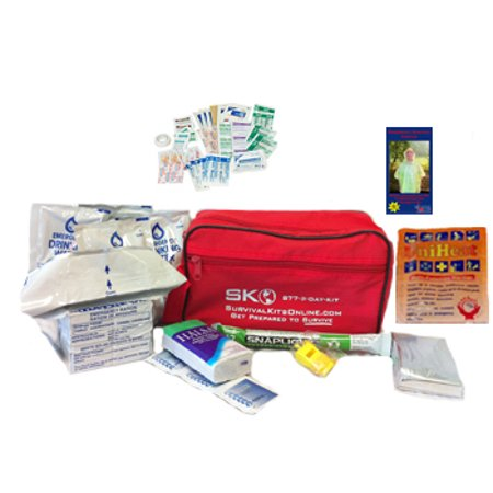 The Small Perfect Survival Kit for Earthquakes, Emergency, Disaster, Shelter in Place Auto, Home, Work, (Best Earthquake Preparedness Kit)