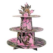 Pink Next Camo Cupcake Stand Havercamp Camouflage Party Supply