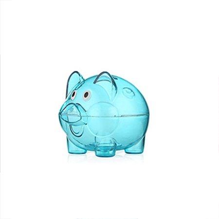 Transparent Plastic Money Saving Box Case Coins Piggy Bank Cartoon Pig