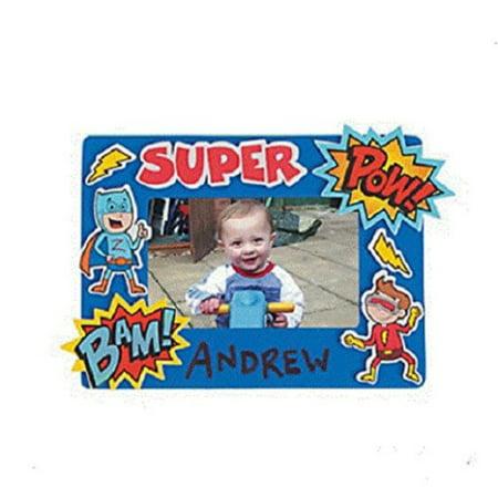 foam superhero picture frame craft kit-makes 12 - Superhero Photo Effects