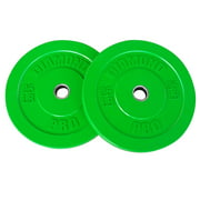 Diamond Pro Color Bumper Plate, Pair of 25 lbs