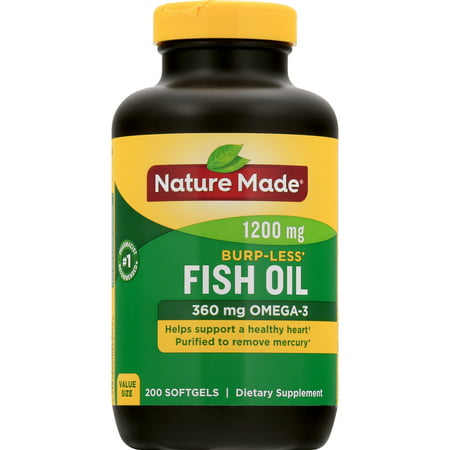 Nature Made Fish Oil 1200mg + Vitamin D 1000 IU Liquid Softgels -