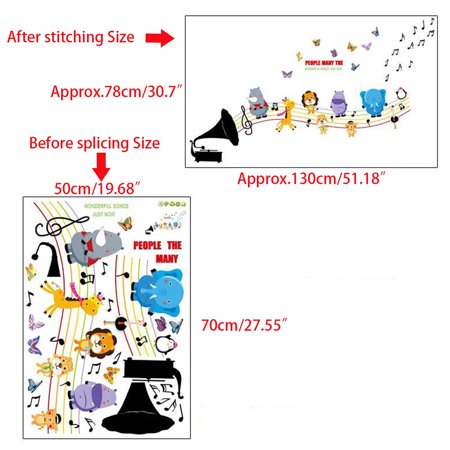 Wall Decoration Sticker Cartoon Wall Decals DIY Removable Wallpaper Children's Room Bedroom Kindergarten Classroom Layout Toddler Kids - image 2 de 8