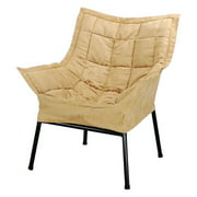 Milano Metal Chair Metal Frame- Black with Tan Outer Cover