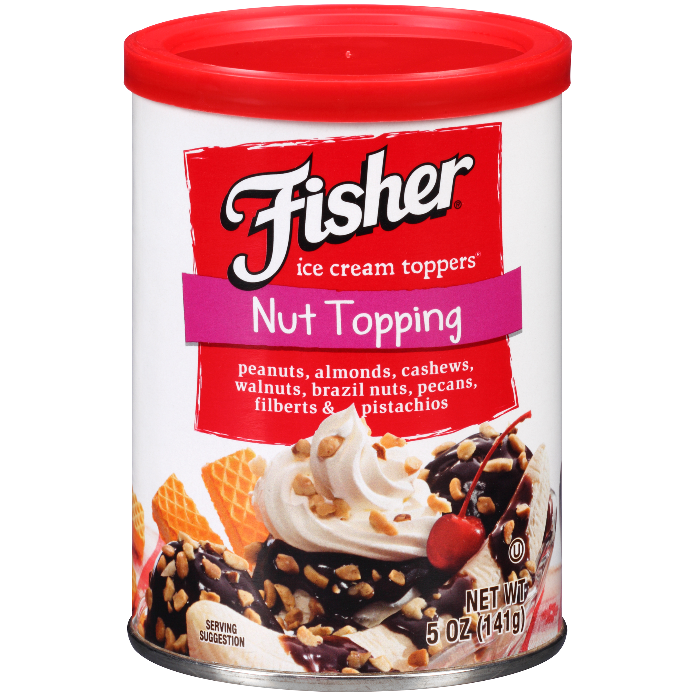 Fisher�� Nut Topping Ice Cream Toppers�� 5 oz. Can