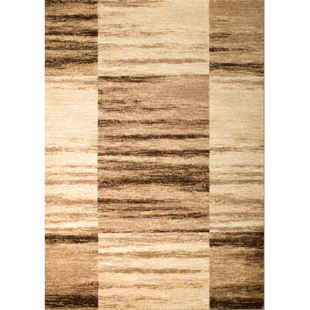 Rio Acrylic Rug (Rio Collection - Brown Beige Geometric Design Premium Area Rug by Rug and Decor 2x7 Runner)