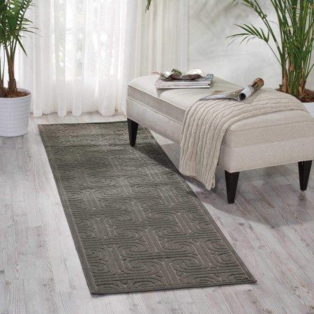 Nourison Kelly Ripa Home Interlock Dark Grey Area Rug By