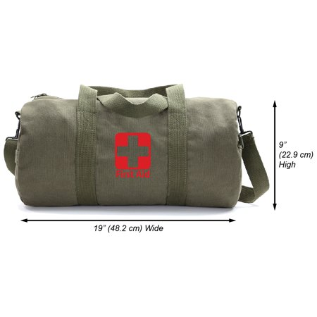 First Aid Army Sport Weekend Travel Gym Heavyweight Canvas Duffel